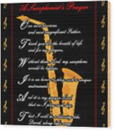 A Saxophonists Prayer_1 Wood Print by Joe Greenidge