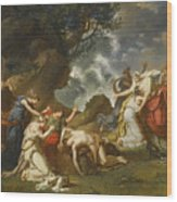 A Scene From Classical Mythology Wood Print