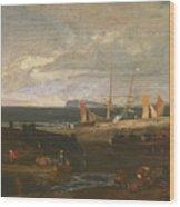 A Scene On The English Coast Wood Print