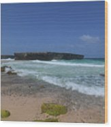 A Scenic Look At Boca Keto On The Island Of Aruba Wood Print