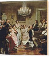 A Schubert Evening In A Vienna Salon Wood Print