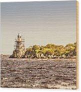 A Seashore Construction Wood Print