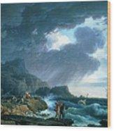 A Seastorm Wood Print