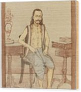 A Seated Indian Priest With English Furniture Wood Print