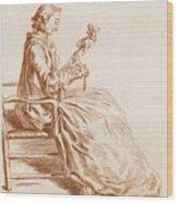 A Seated Woman Wood Print