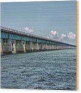 A Section Of The Original Seven Mile Bridge Wood Print