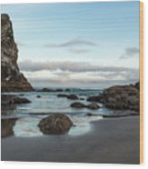 A Serene Morning At Cannon Beach Wood Print