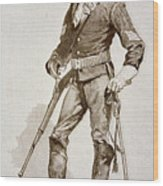 A Sergeant Of The Us Cavalry Wood Print