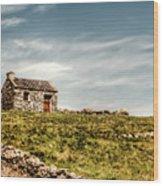 A Shack On The Aran Islands Wood Print