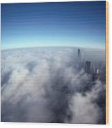 A Shadow Of The Sears Tower Slants Wood Print