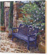 A Shady Resting Place Wood Print
