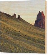 A Shiprock Sunrise - New Mexico - Landscape Wood Print