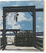 A Short Pier In Portsmouth Nh Wood Print