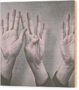 A Show Of Hands Day 197 Wood Print
