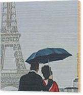 A Shower At The Trocadero Wood Print
