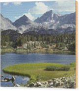 A Sierra Mountain Lake In Summer Wood Print