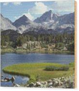 A Sierra Mountain Lake In Summer Wood Print