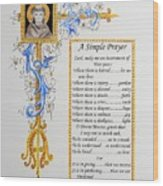 A Simple Prayer Wood Print