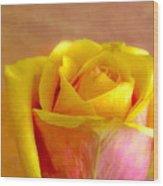 A Single Rose Wood Print