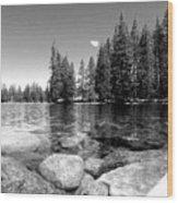 A Skipping Rock Away Wood Print