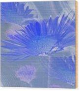 A Slanting Blue Wind  Wood Print