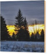 A Sleepy Morning Sunrise Wood Print