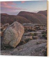 A Slievenaglogh Rock In Fading Golden Light  Wood Print