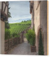 A  Small Side Street In Riquewihr Wood Print