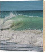 A Small Tube Wave In Atlantic Ocean Wood Print