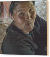 A Smile Of A Burmese Woman Wood Print