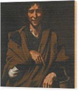 A Smiling Beggar Wood Print