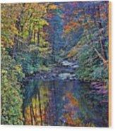 A Smoky Mountain Autumn Wood Print