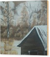 A Snow In Georgia Wood Print