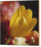 A Softer Shade Of Yellow Wood Print