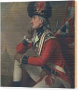 A Soldier Called Major John Andre Wood Print by English School