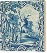 A South-german Faience Stove Tile Second Half 18th Century, By Adam Asar, No 18a Wood Print