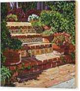 A Spanish Garden Wood Print