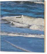 A Splash In The Surf Wood Print