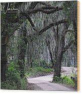 A Spooky Road Wood Print
