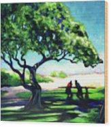 A Spot Of Sun Wood Print