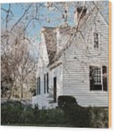 A Spring Day In Colonial Williamsburg Wood Print