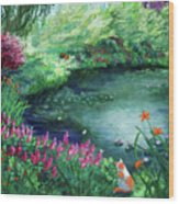 A Spring Day In The Garden Wood Print