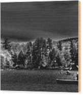 A Spring Day On Old Forge Pond Wood Print