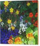 A Spring Garden Medley Wood Print
