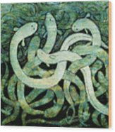 A Squirm Of Eels At The Bottom Of The Pond Wood Print