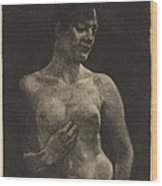 A Standing Nude Wood Print