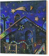 a star in Bethlehem Wood Print