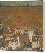A State Procession Of Raja Tulsaji Wood Print