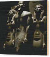 A Statue Of Pharoh Menkaura Wood Print