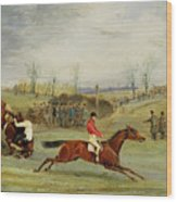 A Steeplechase - Another Hedge Wood Print